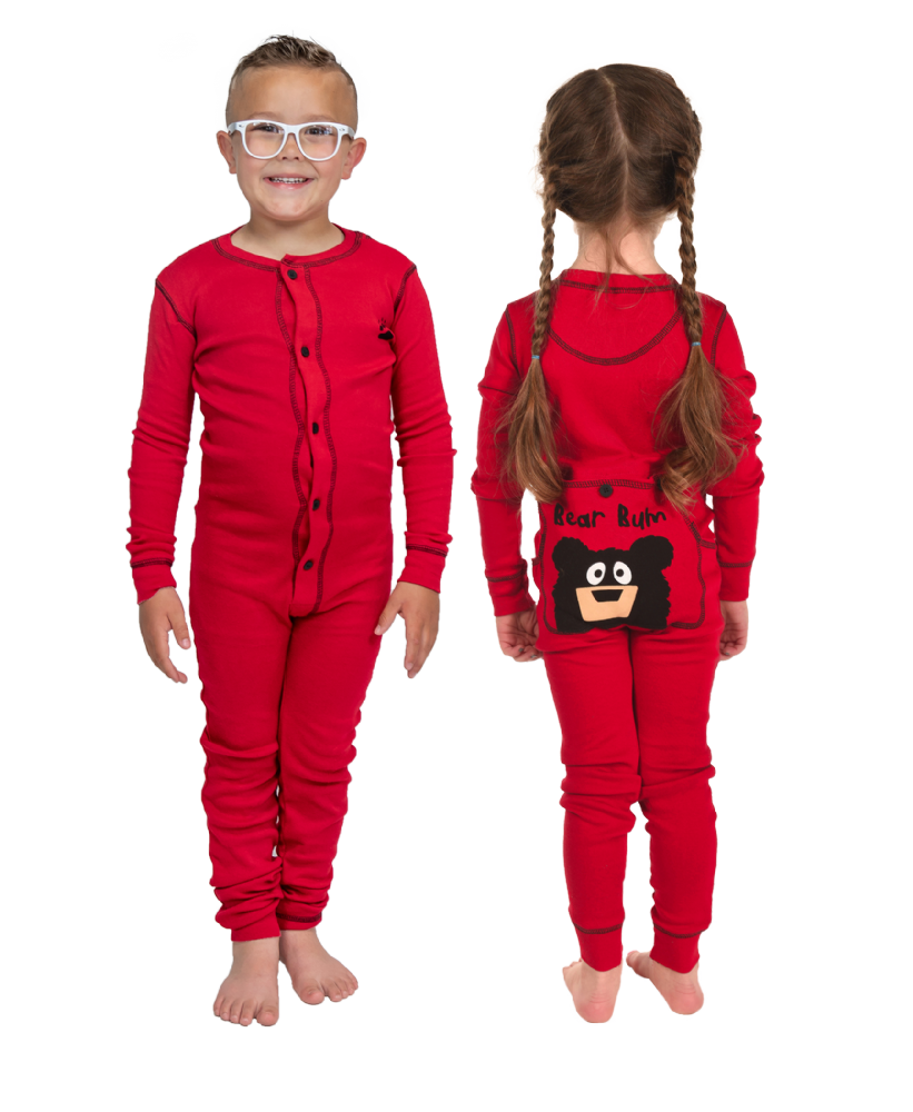 Bear Bum Flapjacks - Kids Onesie Pyjamas - LazyOne®